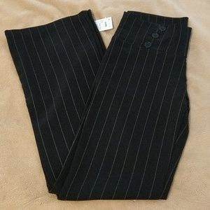 NWT Black Slacks w/ Tan Pinstripes